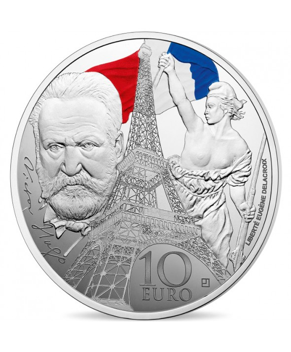 Victor HUGO - Europa Star 10 Euros Argent BE FRANCE 2017 (MDP)