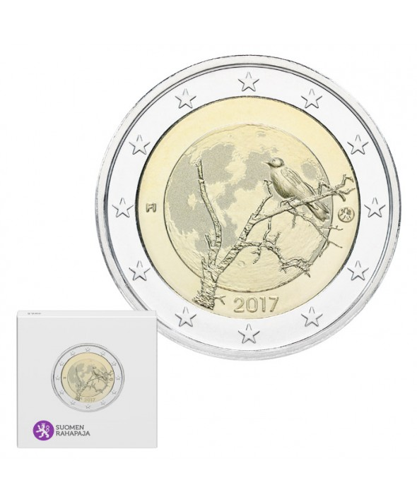2 Euros Commémo. BE FINLANDE 2017 - La Nature finlandaise