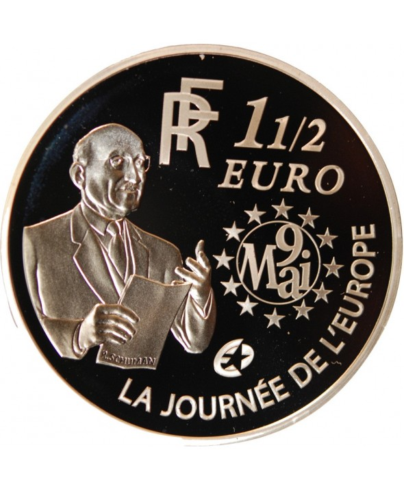 FRANCE, EUROPA, SCHUMAN - 1,50 EURO ARGENT 2006 BE