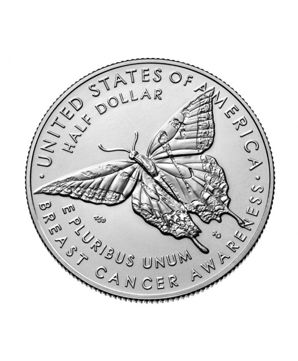 Etats Unis d´Amérique ½ Dollar Cancer du sein, papillon - D Denver Cupro nickel