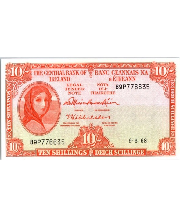 Irlande 10 Shillings, Lady Lavery - 1968