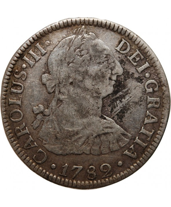 MEXIQUE - CHARLES III 2 REAL 1782 FF MEXICO