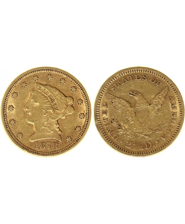 2 1/2 Dollars, Liberty - Aigle 1878 - Or