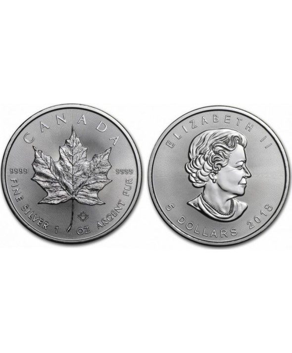Canada 5 Dollars Elisabeth II - 1 Once Maple Leaf Argent 2016