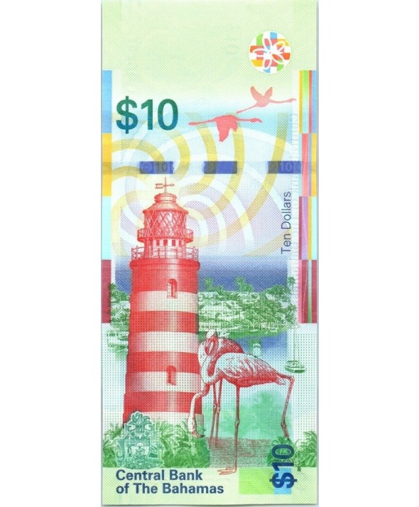 Bahamas 10 Dollars, Sir Stafford Sands - Phare - 2016