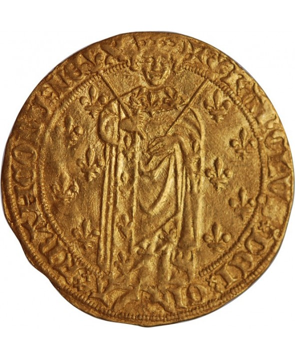CHARLES VII - ROYAL D'OR ANGERS 1422 / 1461