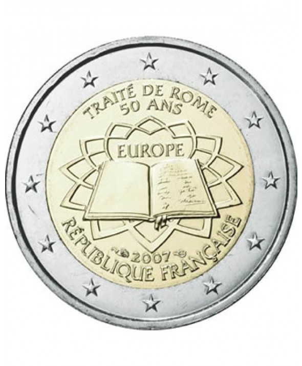 2 Euros Commémo. FRANCE 2007 - Traité de Rome