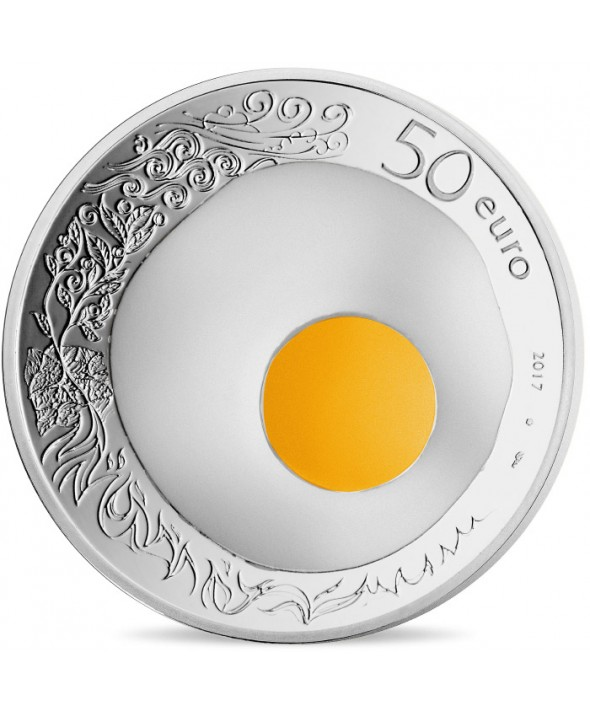 5 Oz, 50 Euros Argent BE France 2017 - Guy Savoy, Excellence à la française (MDP)