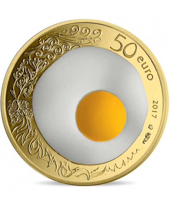 1/4 Oz, 50 Euros Or BE France 2017 - Guy Savoy, Excellence à la française (MDP)