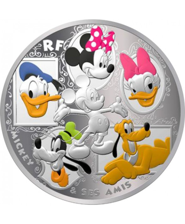 MICKEY ET SES AMIS - 50 Euros 5 Oz Argent BE FRANCE 2018 (MDP)