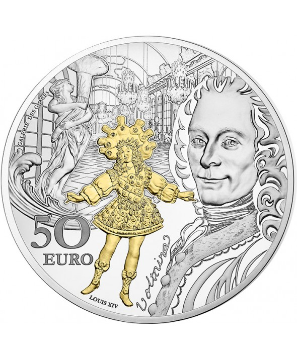 Baroque & Rococo - Europa Star 50 Euros Argent BE FRANCE 2018 (MDP)
