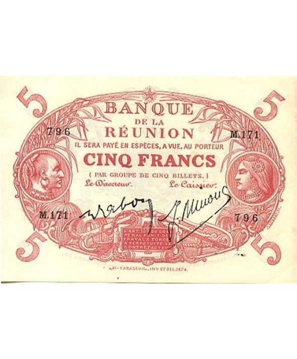 5 Francs, Cabasson, type 1901 Rouge