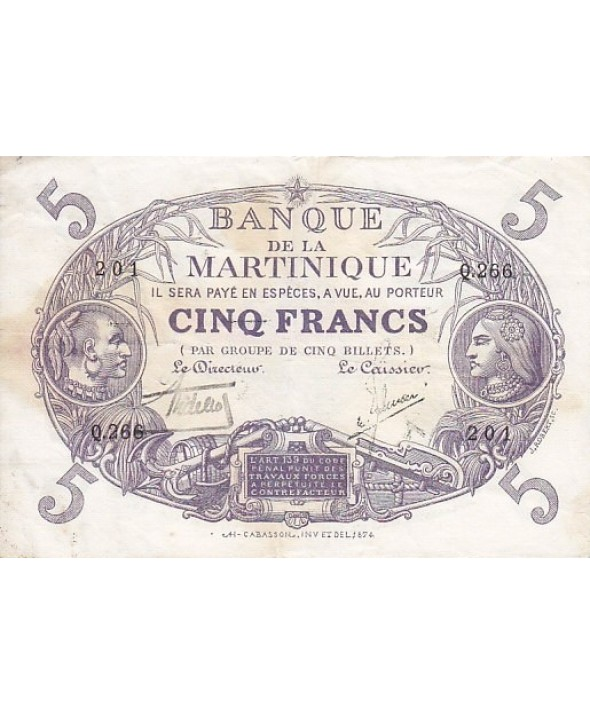 5 Francs, Cabasson, type 1901 Violet