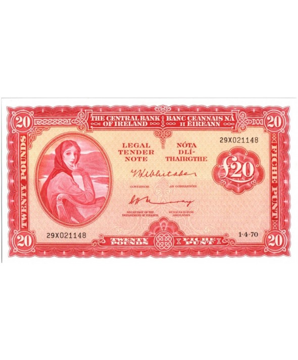 20 Pounds, Lady Lavery, harpe (rouge)
