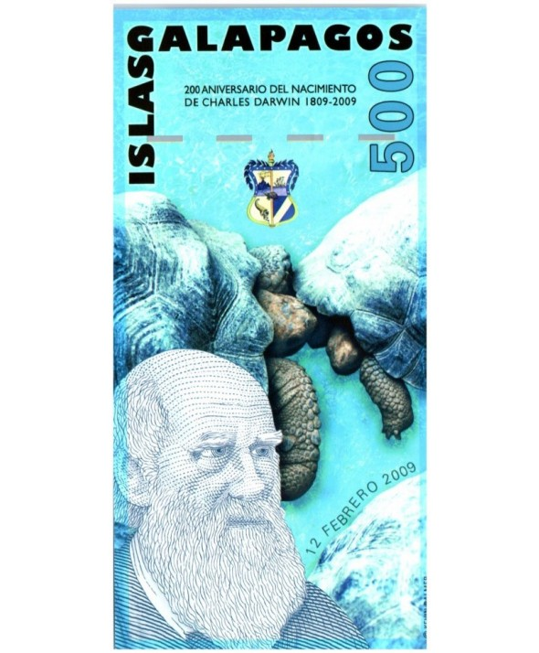 500 Sucres, Charles Darwin - Tortues - 2009