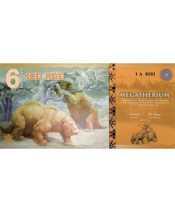 6 Ice Dollars, Ours Geant - Megatherium 2015