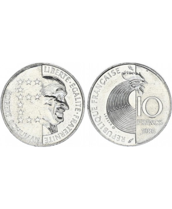 10 Francs France 1986 Robert Schuman