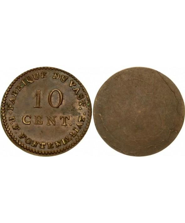 10 Cent, Fabrique du Vast - P. F. Fontenilliat - 1795