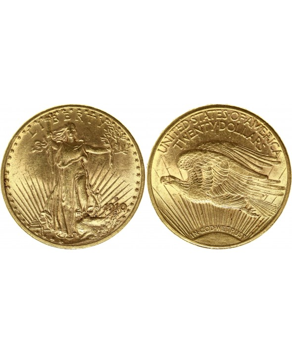 20 Dollars Liberty - Aigle Saint Gaudens - 1910 Denver Or