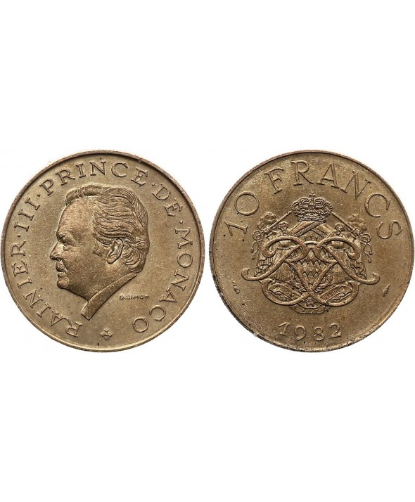 10 Francs  Rainier III - Armoiries - 1981