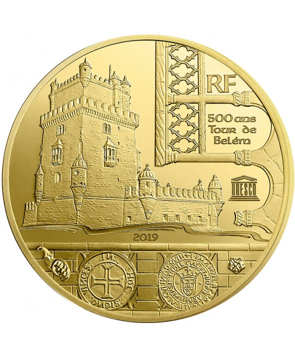 Tour de Belém et Vasco de Gama - Unesco - 5 Euros Or BE 2019 FRANCE (MDP)