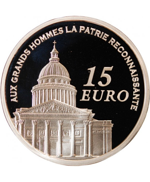 FRANCE, PANTHEON - 15 EURO ARGENT 2007 BE