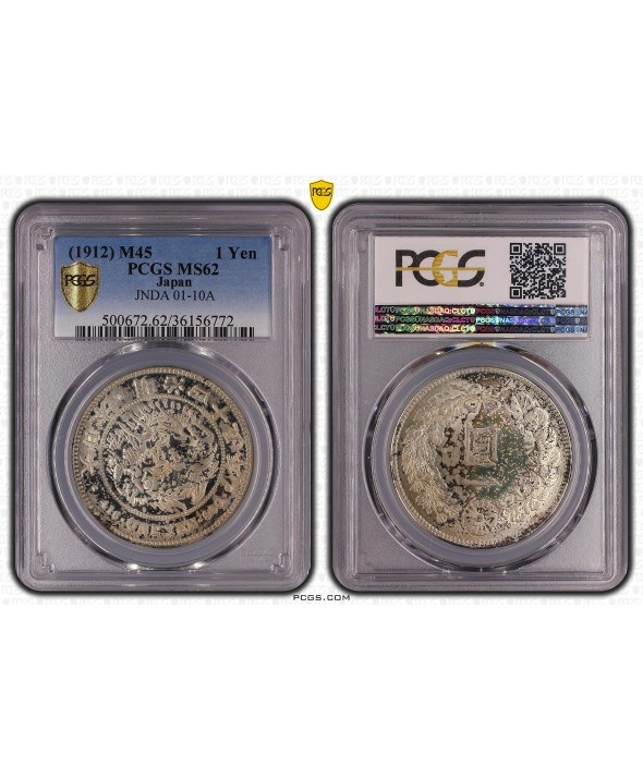 1 Yen Dragon  - 1912 M45- PCGS MS 62