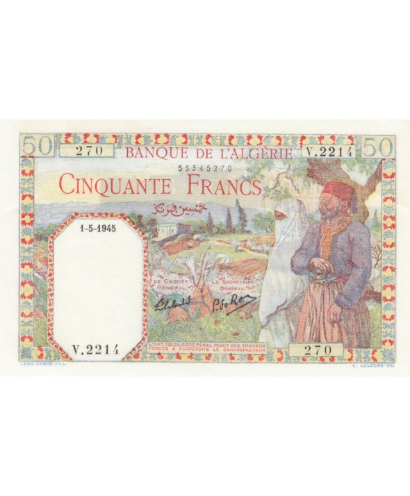 50 Francs Couple - 01-05-1945 - Série V.2214