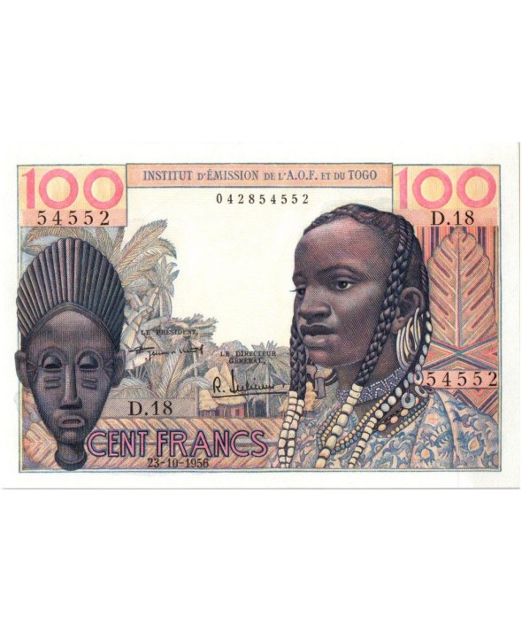B A O 100 Francs Masque - 1956 - D.18 54552
