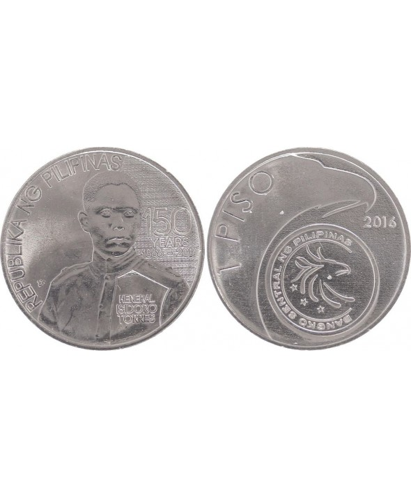 Philippines 1 Piso - Heneral Isidoro Torres  - 2016