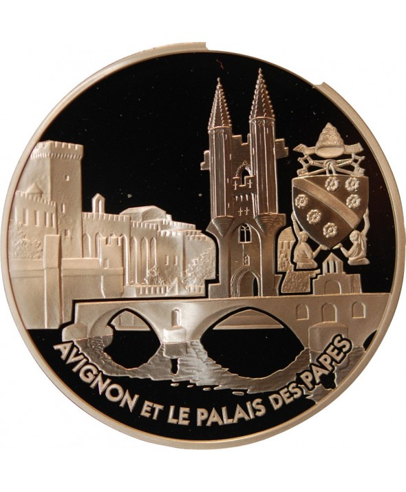 FRANCE, Palais des Papes - 1,50 EURO ARGENT 2004 BE