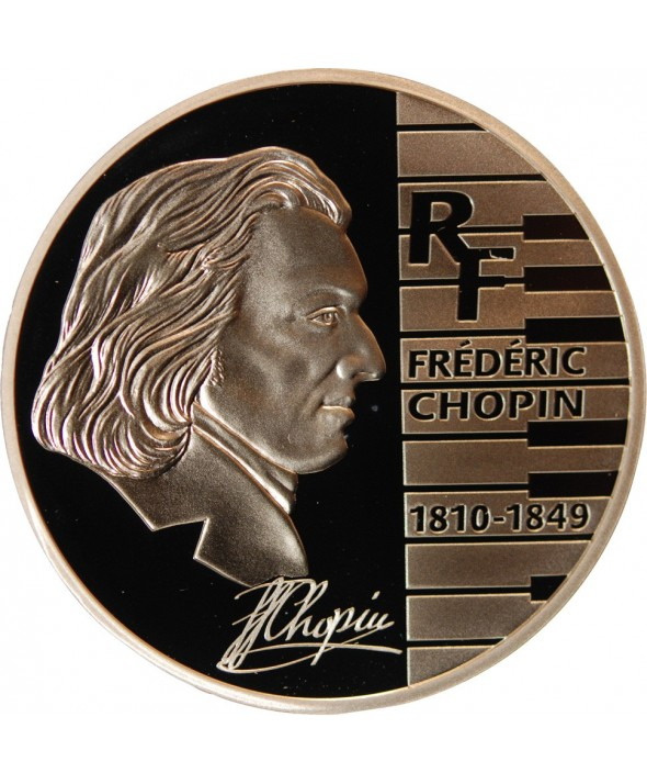 FRANCE, FREDERIC CHOPIN - 1,50 EURO ARGENT 2005 BE