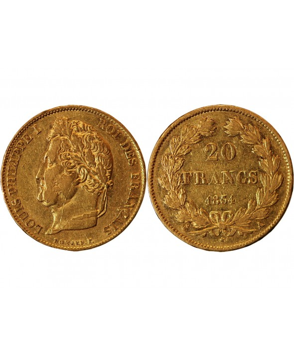 LOUIS PHILIPPE Ier - 20 FRANCS OR 1834 A PARIS