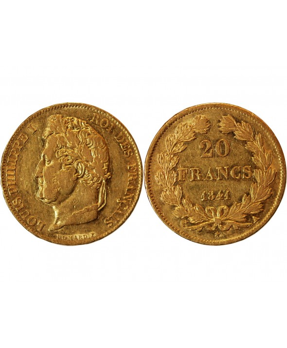 LOUIS PHILIPPE - 20 FRANCS OR 1841 A PARIS