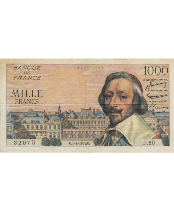 France 1000 Francs Richelieu - 1954