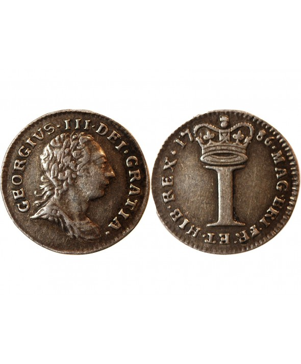 ANGLETERRE, GEORGES III - MAUNDY PENNY ARGENT 1786