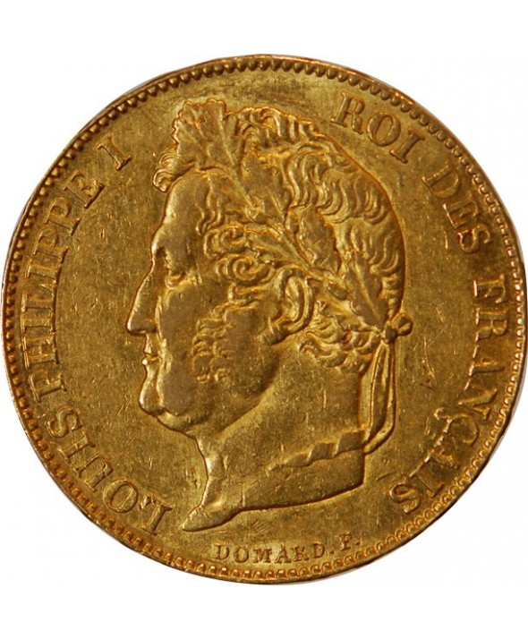 LOUIS PHILIPPE Ier - 20 FRANCS OR 1848 A PARIS