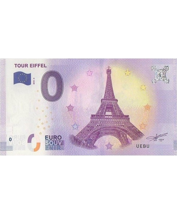 Billet 0 Euro Souvenir - Tour Eiffel Paris 2018