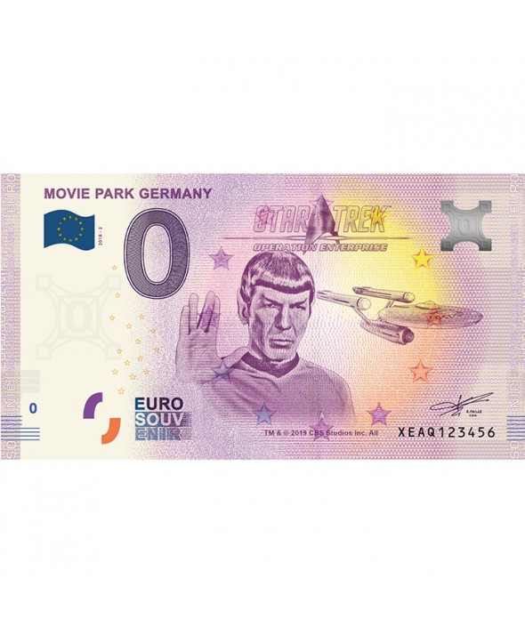 Billet 0 Euro Souvenir - Star Trek Movie Park - Allemagne 2019