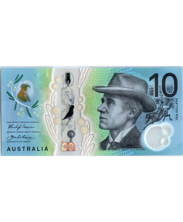 Australie 10 Dollars B. Paterson - M. Gilmore - 2017 Polymer