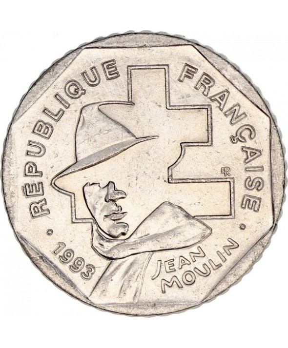 2 Francs France Jean Moulin - 1993