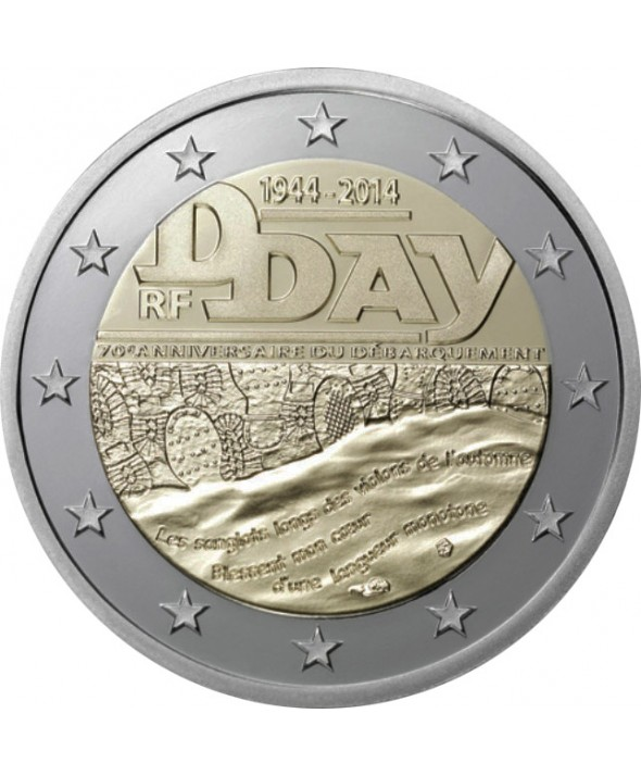 2 Euros BU Commémo. FRANCE 2014 - D-Day