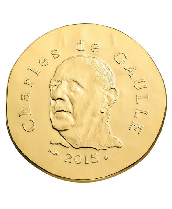 50 Euros Or BE FRANCE 2015 - Charles De Gaulle (MDP)