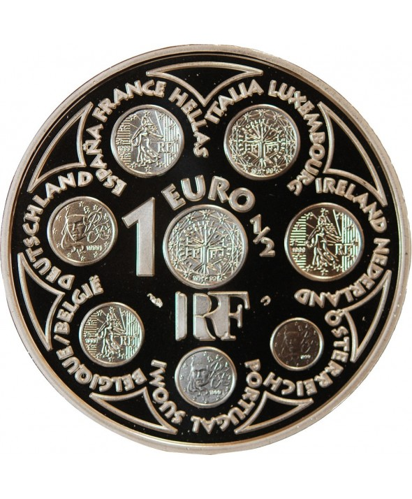 FRANCE, EUROPA - 1,50 EURO ARGENT 2002 BE