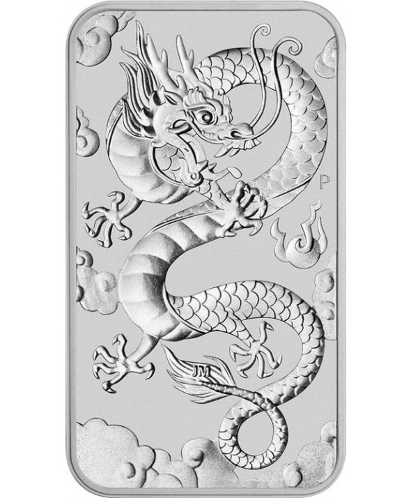 1 oz Dragon 2019 Argent (rectangulaire)
