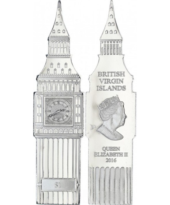 1 Dollar, Big Ben - Elisabeth II - 2016