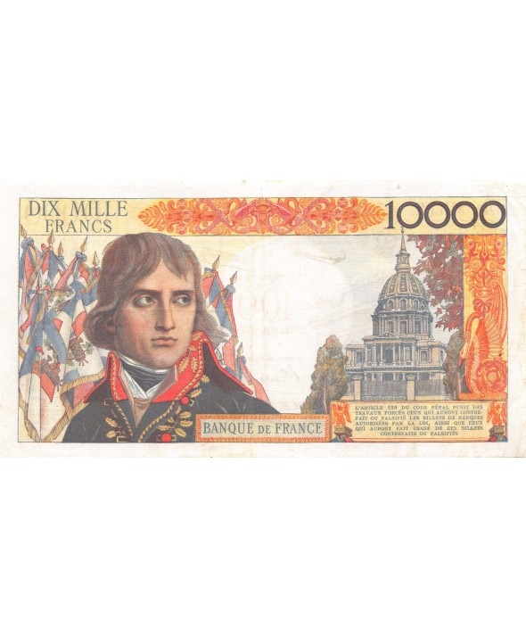 FRANCE, BONAPARTE, 100 NF / 10000 FRANCS 30.10.1958