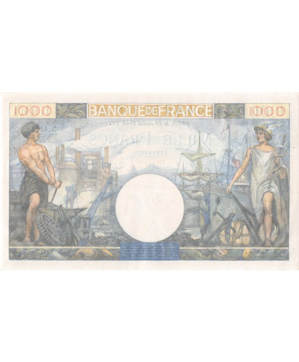 FRANCE, COMMERCE ET INDUSTRIE, 1000 FRANCS 20.07.1944