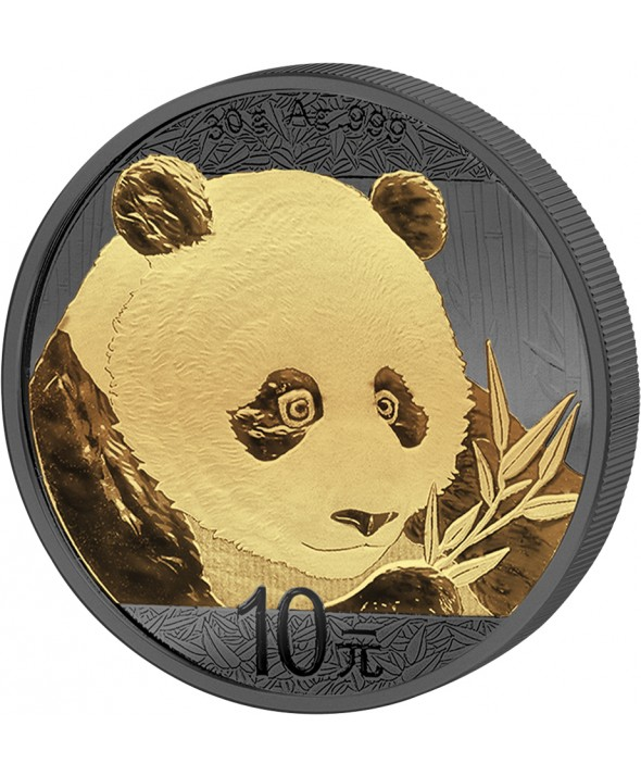 30g argent CHINE 2018 - Panda Ruthénium Or