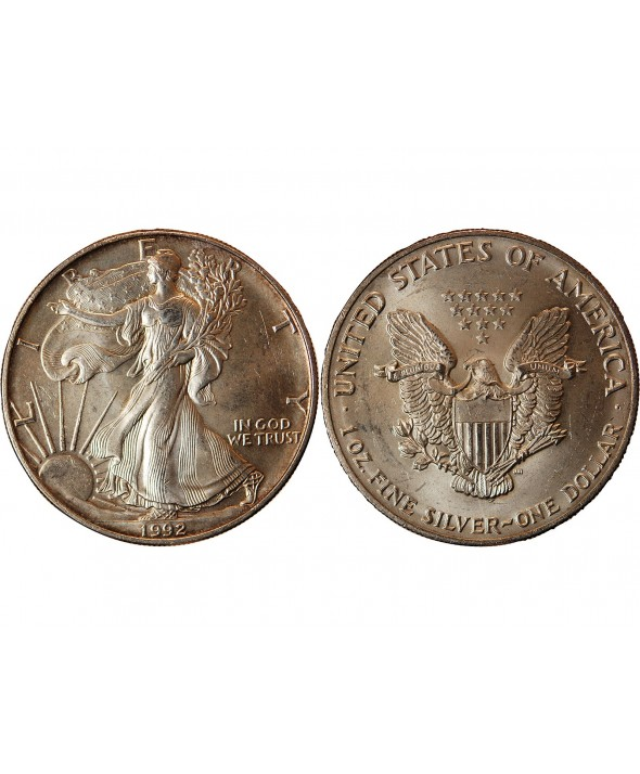 USA - ONCE LIBERTY ARGENT 1992